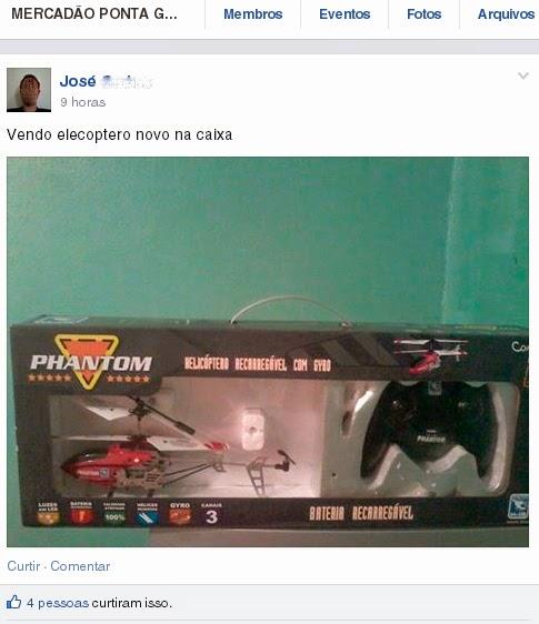 Vendo elecoptero - Mercadão Ponta Grossa