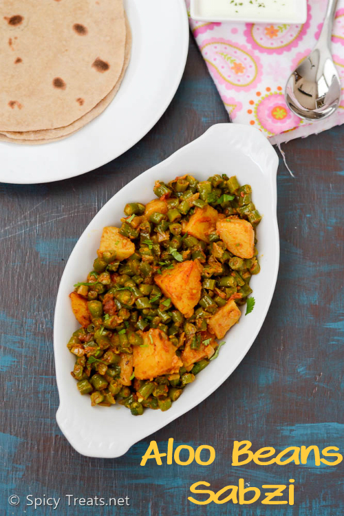 Punjabi Aloo Beans Sabzi
