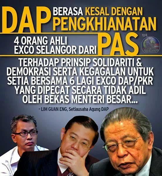 Adakah Azmin Akan Menurut Arahan DAP untuk ambil tindakan terhadap 4 Exco Pas Selangor