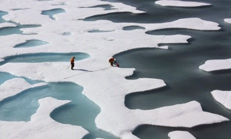 The seven summers with the lowest minimum sea ice extents have all occurred in the last seven years. (Credit: NASA/Reuters) Click to enlarge.