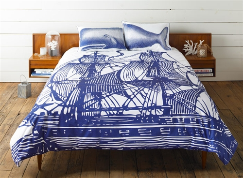Luxurious 600 thread count Ship Duvet Cover by Thomas Paul