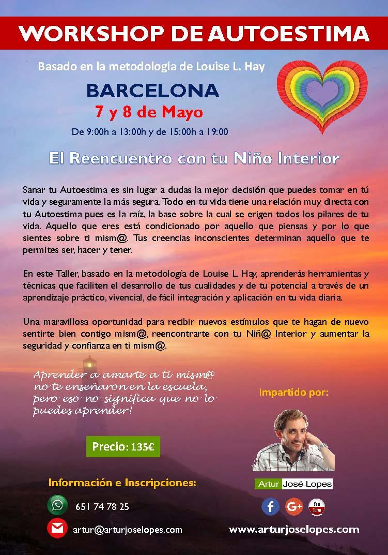 Workshop de Autoestima - 7 y 8 de Mayo en BARCELONA