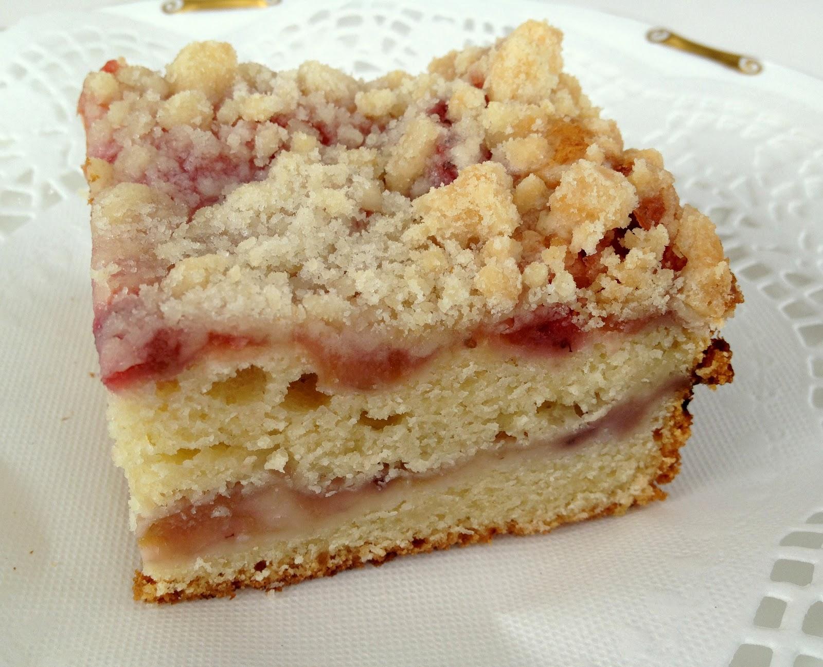 Rhubarb Coffee Cake  T Butter