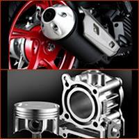 Muscular & Sport Muffler Dan Diasil Cylinder & Forged Piston XEON RC