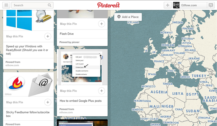 Pinterest got your images on map