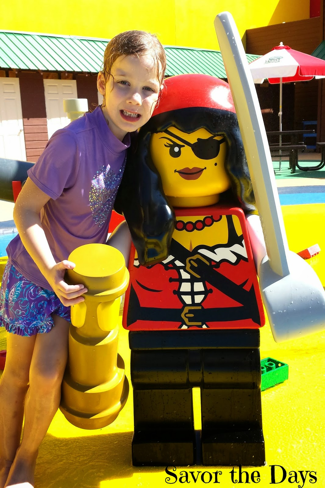 Pirate girl at Pirate Beach at Legoland Discovery Center in Grapevine