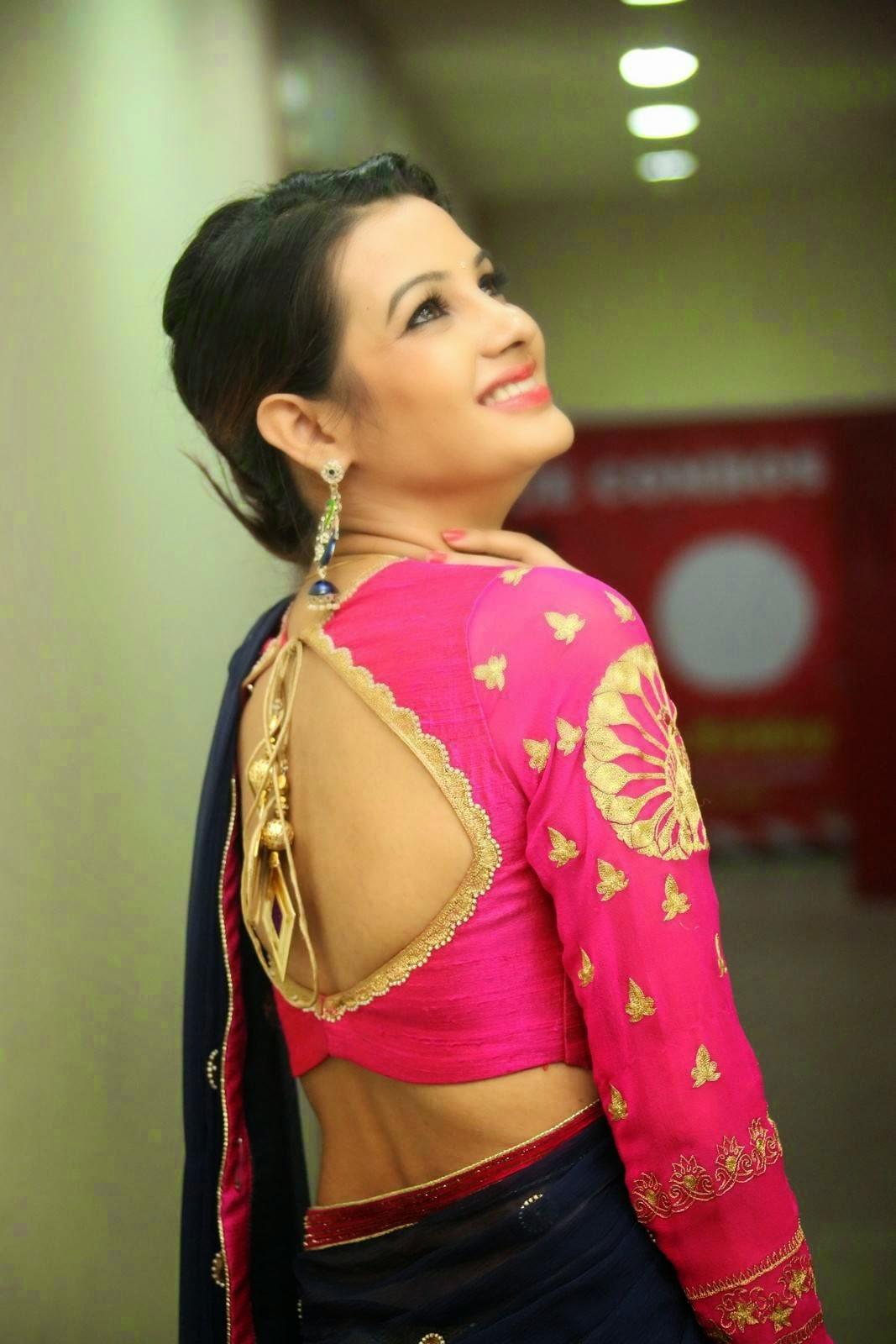 Diksha panth sizzling in saree-HQ-Photo-11