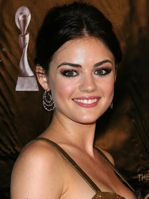 Lucy Hale Dangling Gemstone Earrings