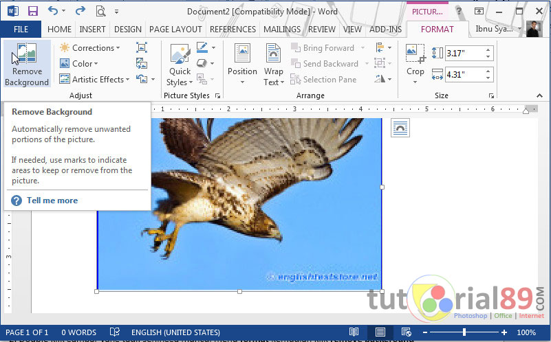 Cara mengganti backgraund gambar di word