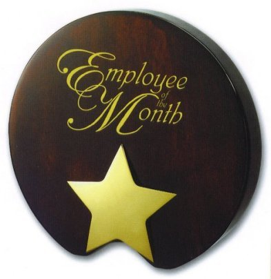 employee of the month prize