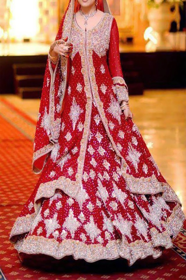 New red color lehnga designs 2015