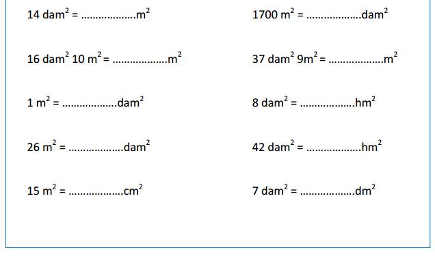Đơn vị đo diện tích toán lớp 5 - đơn vị đo tiết 3
