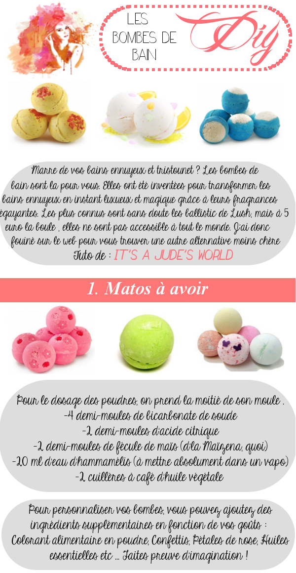 The paradise of girl bombe de bain ou bath bombs fait maison for Bain moussant fait maison