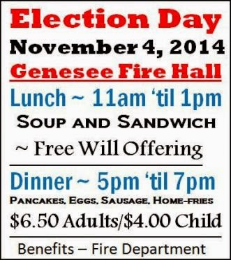11-4 Election Day Lunch/Dinner Genesee Fire Hall