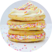 Funfetti Sugar Cookie Sandwiches