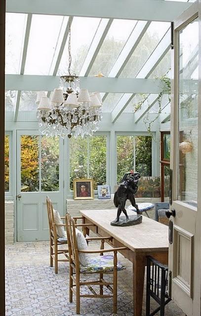Apple pie and shabby style conservatory non chiamatelo for Arredare giardino d inverno