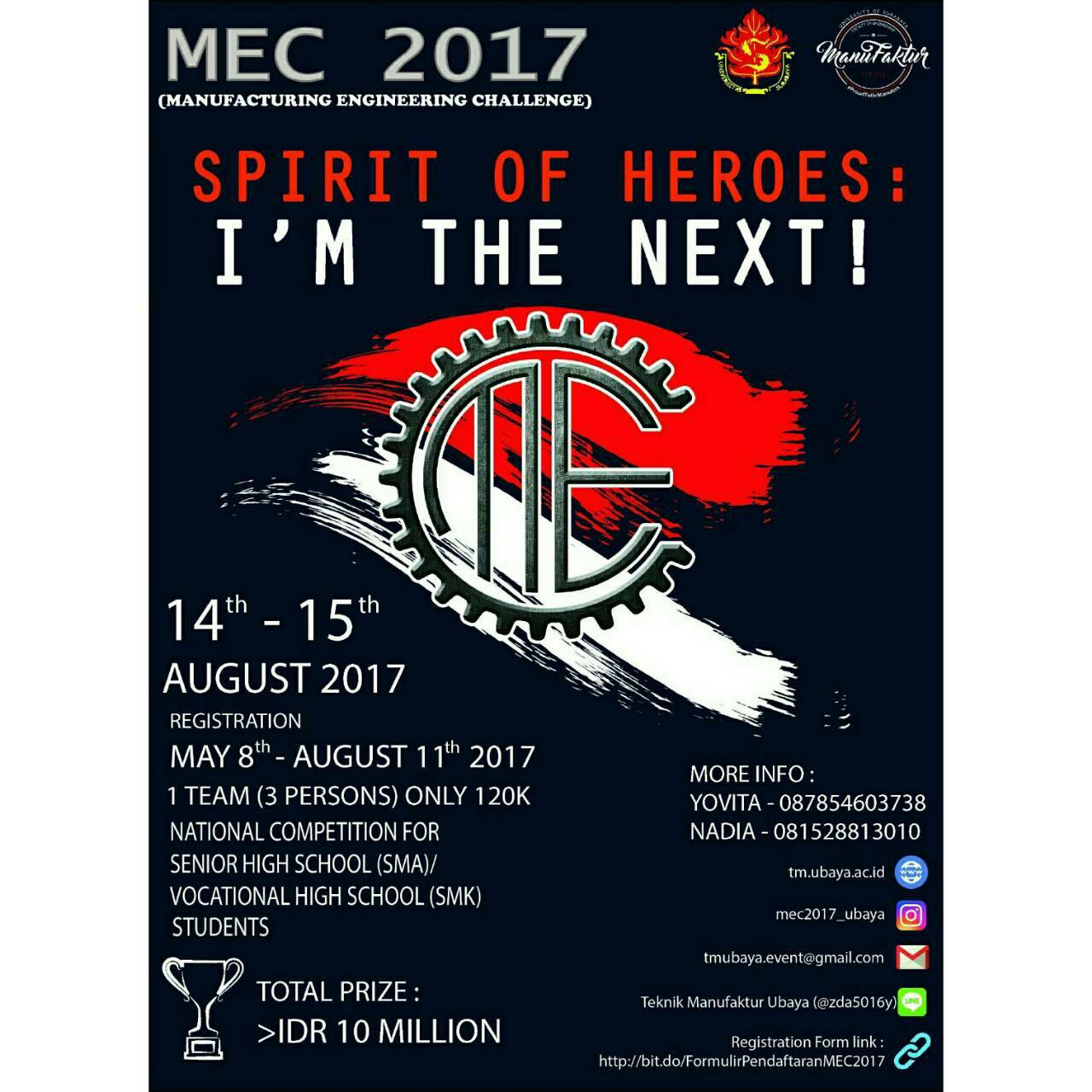 Manufacturing Engineering Challenge (MEC) 2017 di Ubaya