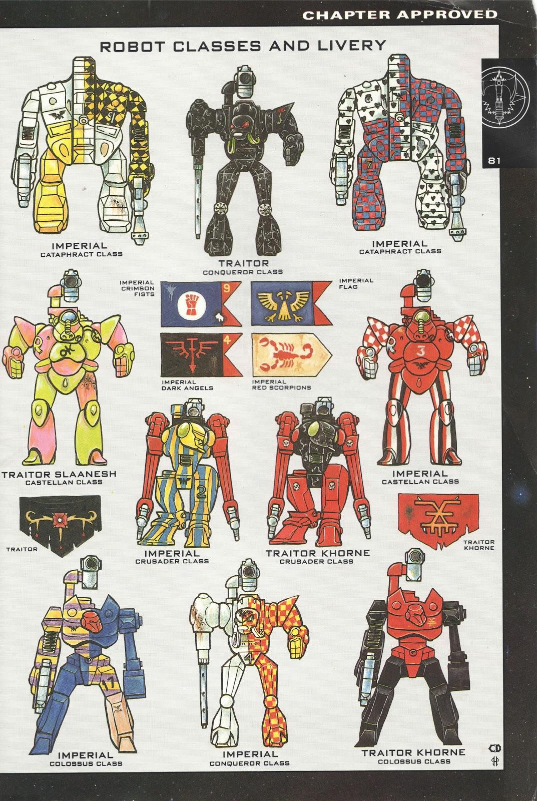 Los robots imperiales y la Legio Cybernética