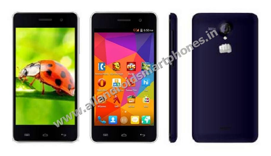 Micromax Unite 2 A106 Dual Sim Android Kitkat 4.4.2 Smartphone Front Back Side Images Photos Review