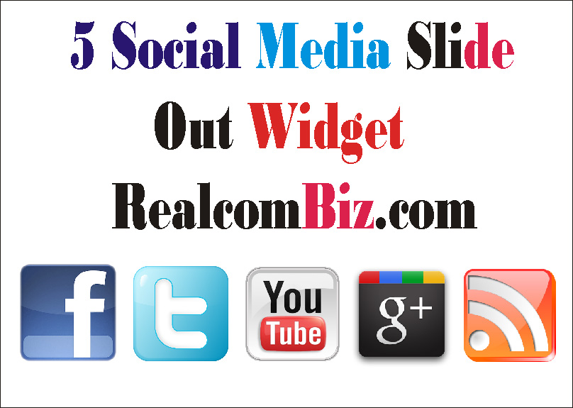facebook twitter google plus youtube rss jQuery slide or pop out widget