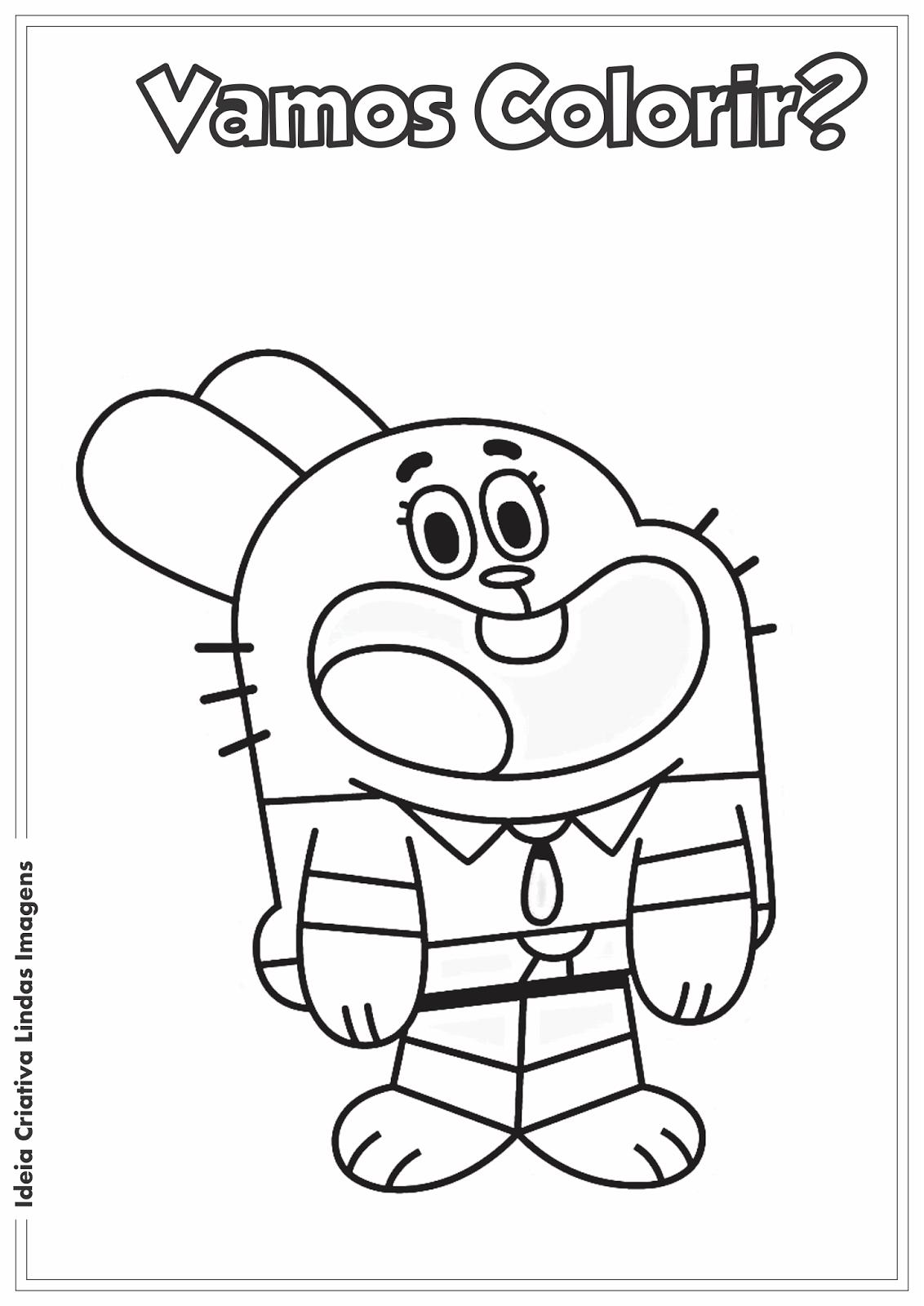 O incrível mundo de Gumball - Ricardo desenho para colorir