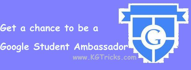 Become a Google Student Ambassador and represent your College