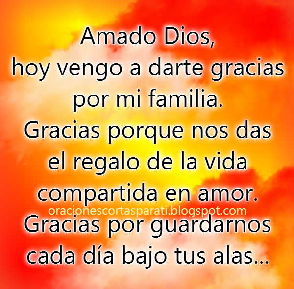 Tarjeta cristiana de oración por la familia