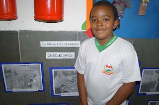 O aluno Vanderson dos Santos adorou participar dos trabalhos
