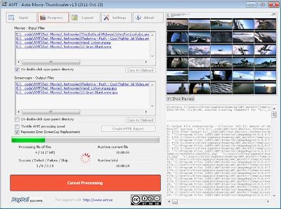 Auto Movie Thumbnailer , screenshot software, thumbnail  creation softwares , windows softwares, freewares,