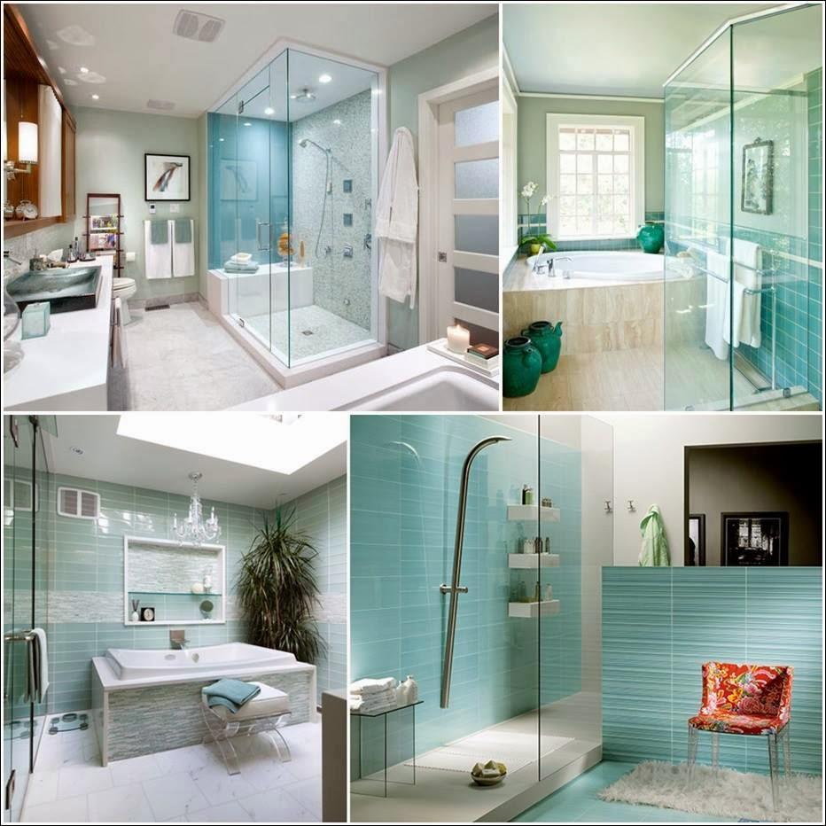 Bricolage e Decoração Ideias para Decorar Casas de Banho(Banheiro) em Azul # Decorar Banheiro Azul