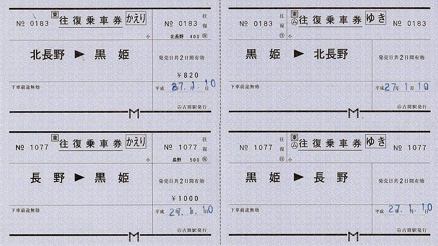 古間駅 常備往復乗車券