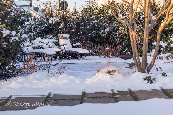 Gartenmobel Polster Bank : Winter im Garten