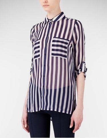 camisa rayas stradivarius