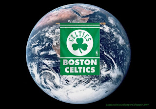 Boston Celtics desktop Wallpapers Celtics Flags Logo in Planet Earth from Space Desktop wallpaper
