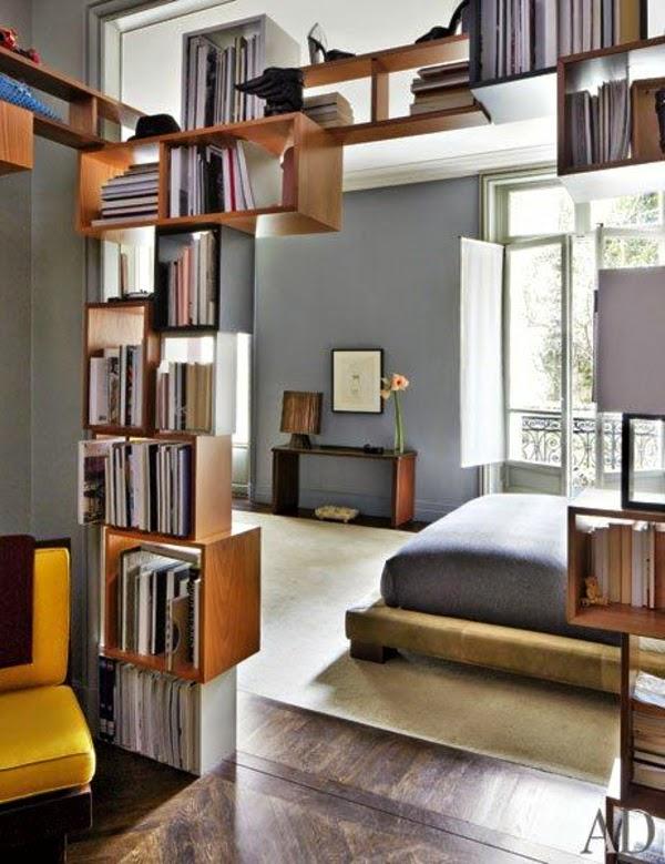 Room Divider Shelves Modern Bedroom With Freestanding Bookcases