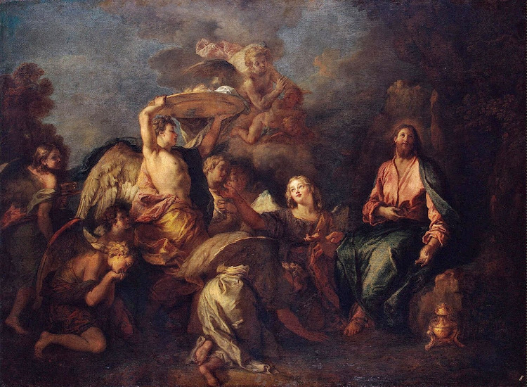Charles de La Fosse - Christ in the Wilderness Surrounded by Angels
