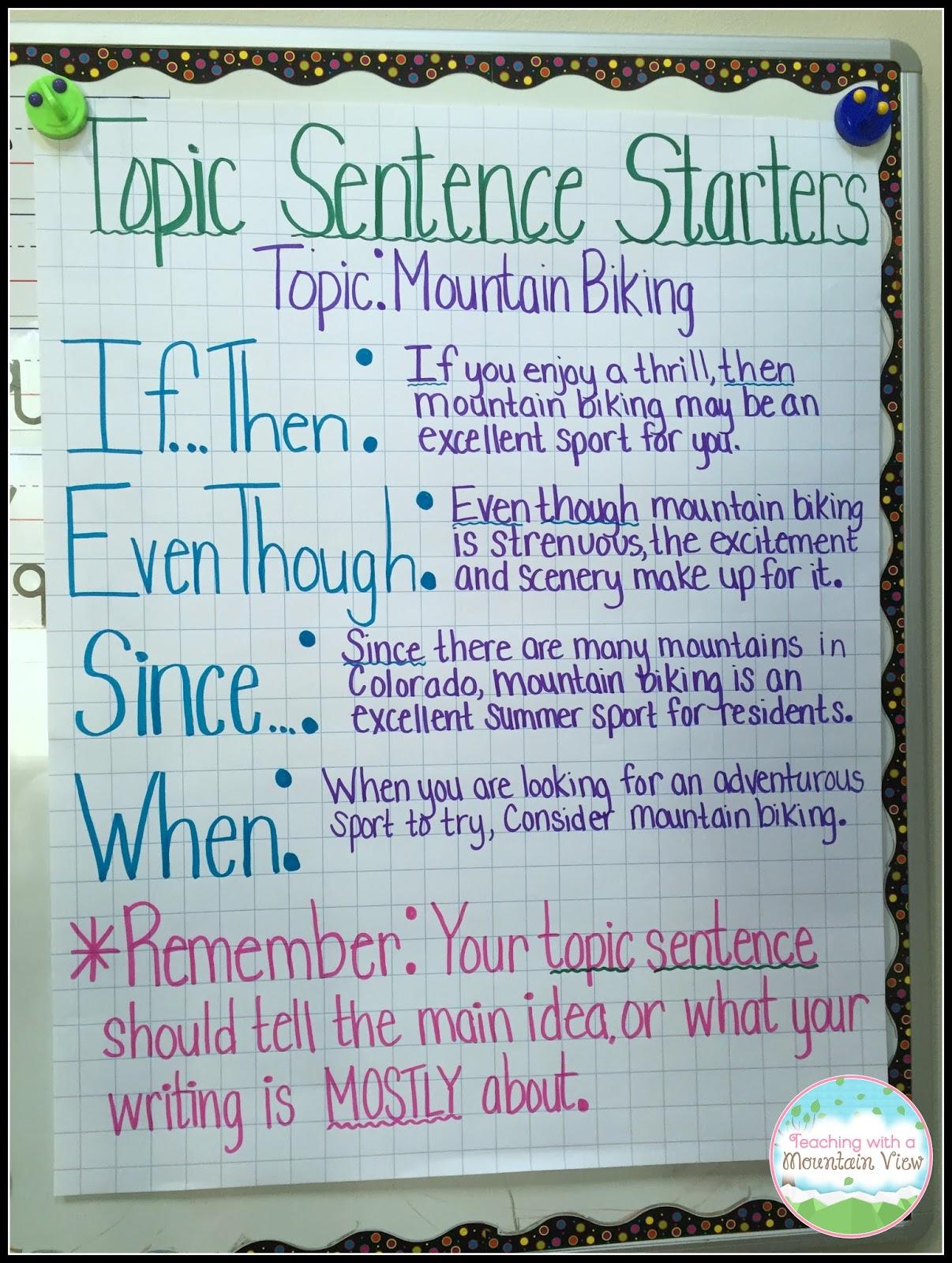 Topic Sentences | Teaching With a Mountain View | Bloglovin\'