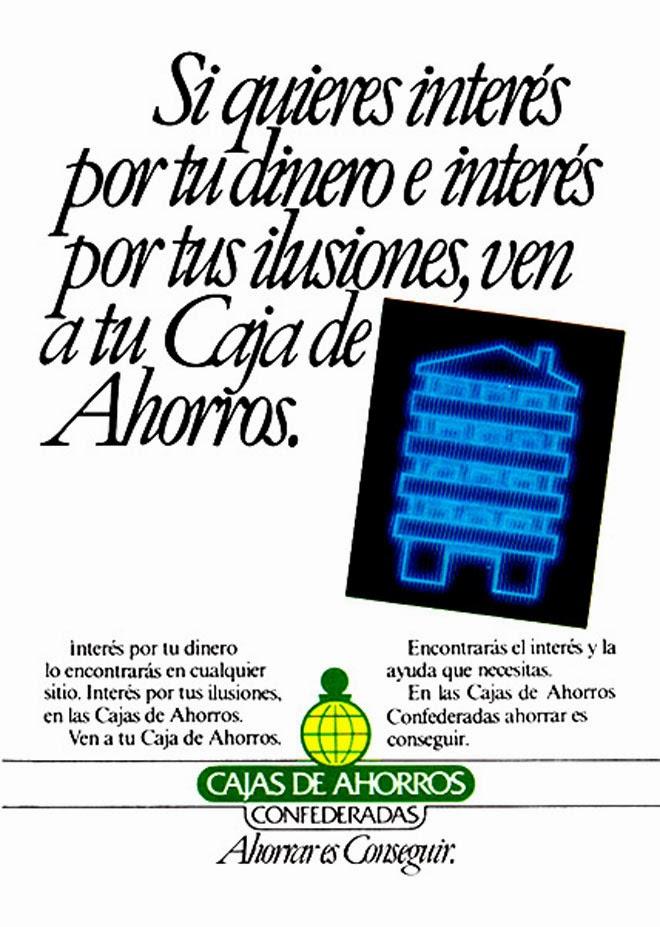 Cajas de Ahorros Publicidad de los años 80