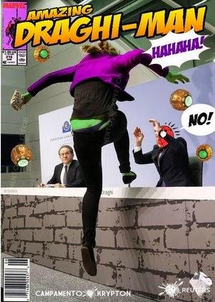 meme draghi activista presa banco central