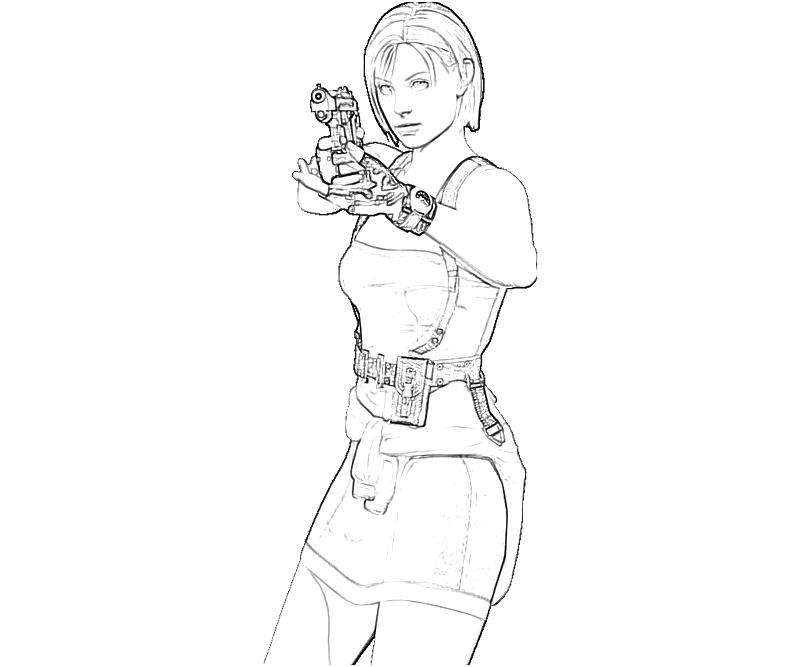 Printable Jill Valentine Character Coloring Pages 6 title=