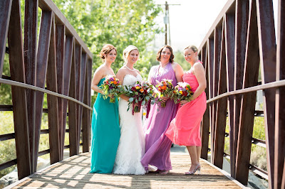 Jewel Tone Bridal & Bridesmaids Bouquets by Blake's Floral Design Reno l River School Farm l Jeramie Lu Photography l Take the Cake Event Planning