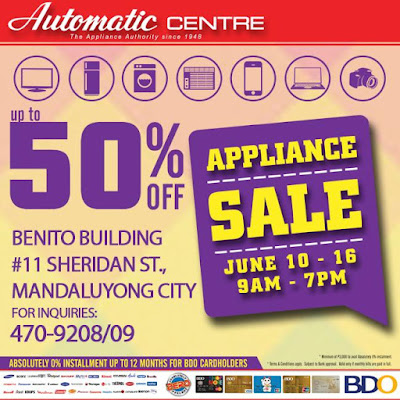 Automatic Centre: BDO Appliance Sale