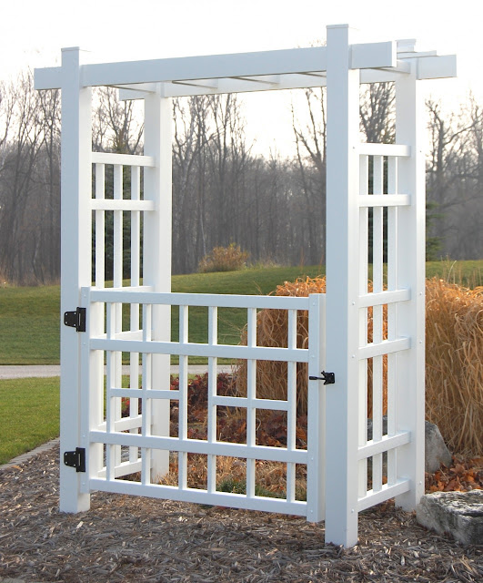 garden arbor with gate autumn weddings pics
