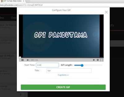 Cara Mudah dan Cepat Membuat Gambar Bergerak (GIF) dari Video Youtube