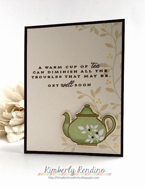 coffee lovers bloghop | tea | handmade card | kimpletekreativity.blogspot.com
