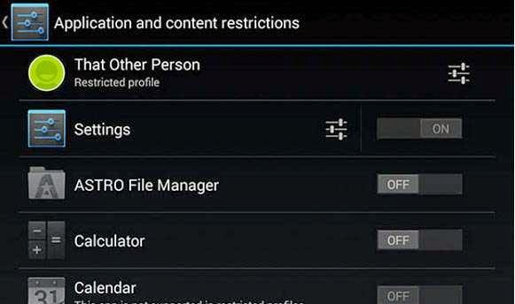 android-application-and-content-restrictions