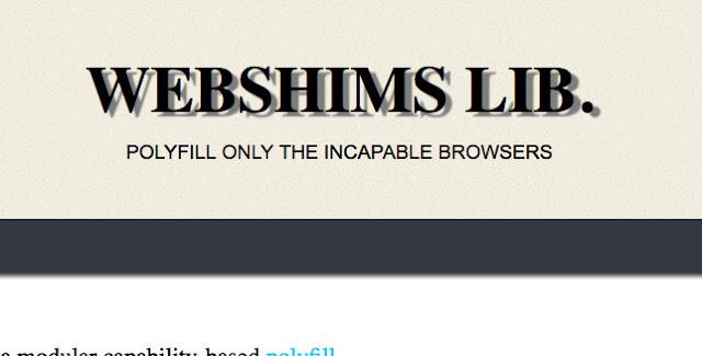 Webshims Polyfill