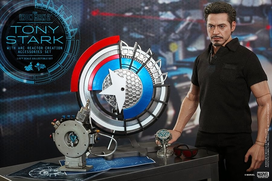 Marvel Tony Stark With Arc Reactor Creation Accessories Marvel Collectible  Set
