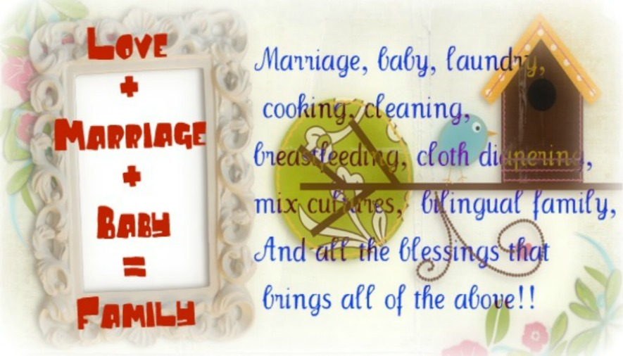 love+marriage+baby= Family!