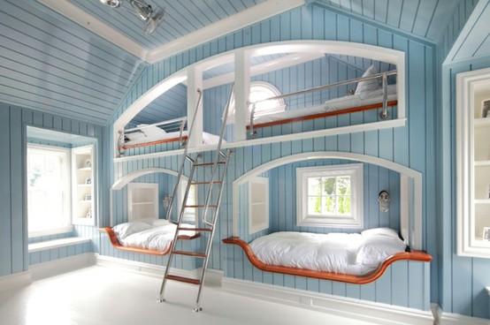 oaken mist built in bedroom ideas